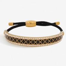 Agama Sparkle Black Gold 1cm Friendship Bangle | Gracious Style