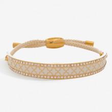 Agama Sparkle Cream Gold 1cm Friendship Bangle | Gracious Style