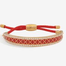 Agama Sparkle Red Gold 1cm Friendship Bangle | Gracious Style