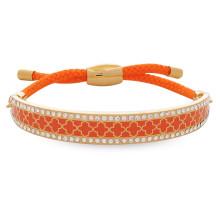 Agama Sparkle Orange Gold 1cm Friendship Bangle | Gracious Style