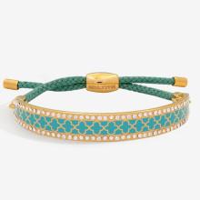 Agama Sparkle Turquoise Gold 1cm Friendship Bangle | Gracious Style