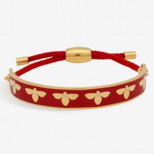 Bee Sparkle Red Gold 1cm Friendship Bangle | Gracious Style