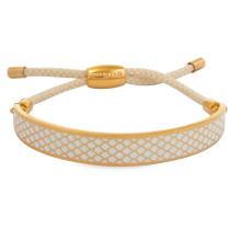 Salamander Cream Gold 1cm Friendship Bangle | Gracious Style