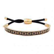 Skinny Chain Black Gold 6mm Friendship Bangle | Gracious Style