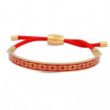 Skinny Chain Red Gold 6mm Friendship Bangle | Gracious Style
