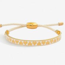 Skinny Heart Cream Gold 6mm Friendship Bangle | Gracious Style