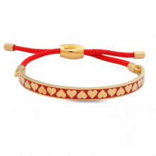 Skinny Heart Red Gold 6mm Friendship Bangle | Gracious Style
