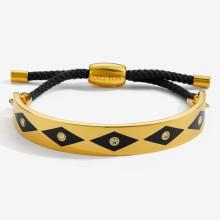 Sparkle Black Gold 1cm Friendship Bangle | Gracious Style
