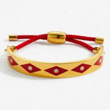Sparkle Red Gold 1cm Friendship Bangle | Gracious Style
