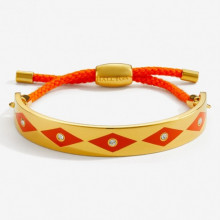 Sparkle Orange Gold 1cm Friendship Bangle | Gracious Style