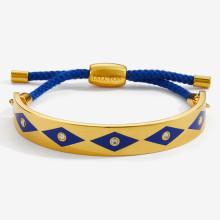 Sparkle Deep Cobalt Gold 1cm Friendship Bangle | Gracious Style