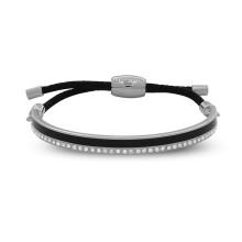 Skinny Plain Sparkle Black Palladium 6mm Friendship Bangle | Gracious Style