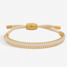 Skinny Plain Sparkle Cream Gold 6mm Friendship Bangle | Gracious Style