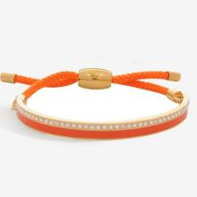 Skinny Plain Sparkle Orange Gold 6mm Friendship Bangle | Gracious Style