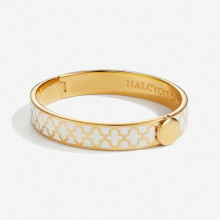 Agama Cream Gold 1cm Hinged Bangle | Gracious Style