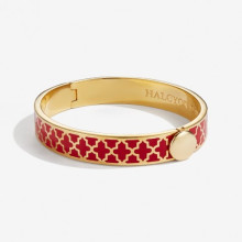Agama Red Gold 1cm Hinged Bangle | Gracious Style