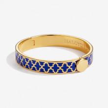 Agama Deep Cobalt Gold 1cm Hinged Bangle | Gracious Style