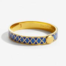 Agama Deep Cobalt & Bluebell Gold 1cm Hinged Bangle | Gracious Style