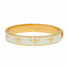 Bee Cream Gold 1cm Hinged Bangle | Gracious Style
