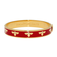 Bee Red Gold 1cm Hinged Bangle | Gracious Style