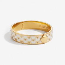 Bee Sparkle Trellis Cream Gold 13mm Hinged Bangle | Gracious Style