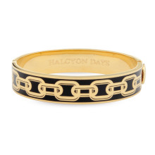 Chain Black Gold 13mm Hinged Bangle | Gracious Style