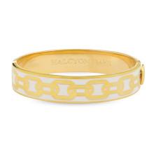 Chain Cream Gold 13mm Hinged Bangle | Gracious Style