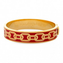 Chain Red Gold 13mm Hinged Bangle | Gracious Style