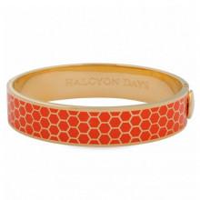 Honeycomb Orange Gold 13mm Hinged Bangle | Gracious Style