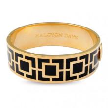 Maya Black Gold 2cm Hinged Bangle | Gracious Style