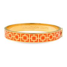 Mosaic Orange Gold 1cm Hinged Bangle | Gracious Style