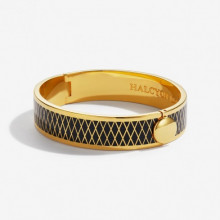 Parterre Black Gold 13mm Hinged Bangle | Gracious Style
