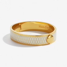 Parterre Cream Gold 13mm Hinged Bangle | Gracious Style