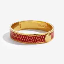 Parterre Red Gold 13mm Hinged Bangle | Gracious Style