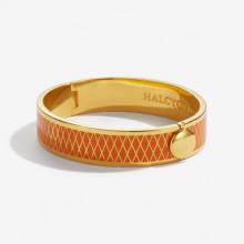 Parterre Orange Gold 13mm Hinged Bangle | Gracious Style