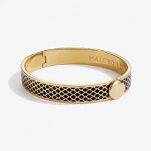 Salamander Black Gold 1cm Hinged Bangle | Gracious Style