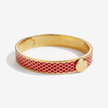Salamander Red Gold 1cm Hinged Bangle | Gracious Style