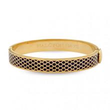 Salamander Navy Gold 1cm Hinged Bangle | Gracious Style