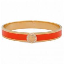 Sparkle Button Plain Orange Gold 1cm Hinged Bangle | Gracious Style