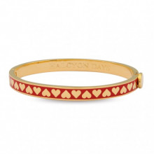 Skinny Heart Red Gold 6mm Hinged Bangle | Gracious Style