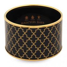 Agama Print Black Gold Cuff | Gracious Style