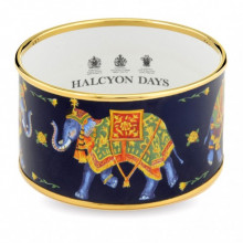 Ceremonial Indian Elephant Navy Gold Cuff | Gracious Style
