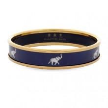 Grey Elephant Navy Gold Bangle | Gracious Style