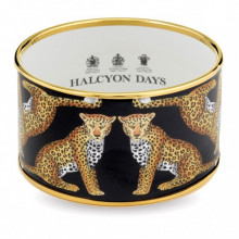 Magnificent Wildlife Leopard Black Gold Cuff | Gracious Style