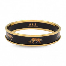 Magnificent Wildlife Tiger Black Gold Bangle | Gracious Style