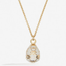 Bee Sparkle Cream Gold Pendant | Gracious Style
