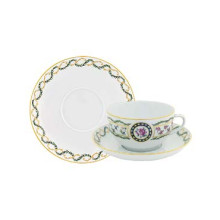 Louveciennes Set Of 2 Cappuccino Cup/Saucer 33 Cl | Gracious Style