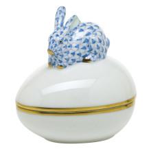 "Fishnet Box Blue Bunny Bonbon 3""L X 2.25""W X 3""H | Gracious Style"