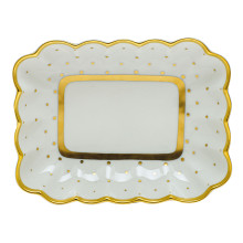Fodos-x1 Connect The Dots Oblong Dish 7.25 in. l X 5.5 in. w | Gracious Style
