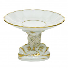 """Original Hadik Gold Edge Shell With Dolphin Stand 4""""H X 6""""D 